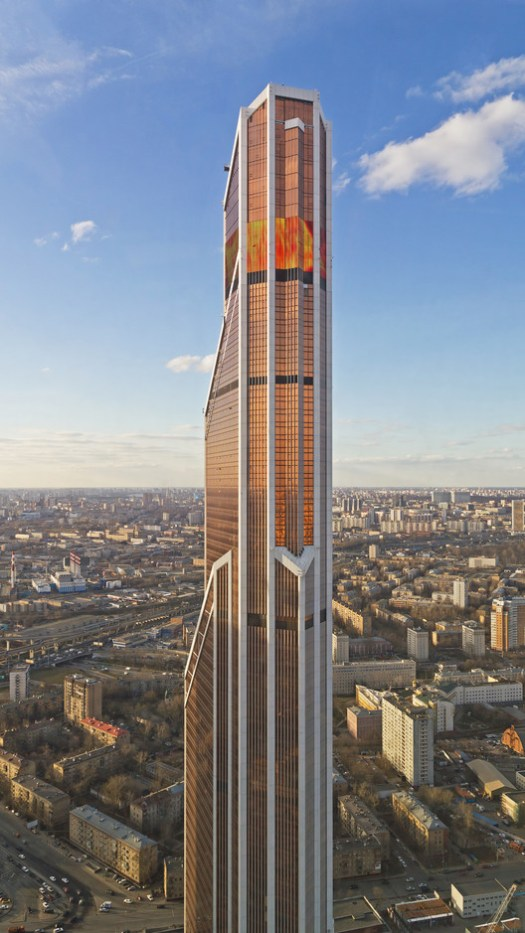 18. Mercury City Tower, Moscow ($1 billion). Image© <a href='https://commons.wikimedia.org/wiki/File:View_from_Imperia_Tower_Moscow_04-2014_img12.jpg'>Wikimedia user A.Savin</a> licensed under <a href='https://creativecommons.org/licenses/by-sa/3.0/deed.en'>CC BY-SA 3.0</a>