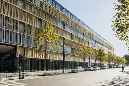 Facade West Twist. Image Courtesy of Dietmar Feichtinger Architectes