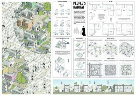 Honorable Mention: People's Habitat by Marek Rytych, Natalia Ciastoń & Tomasz Hryciuk of Warsaw, Poland