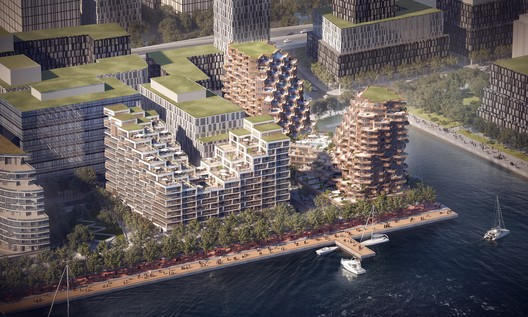 An aerial view of the project. Image © 3XN