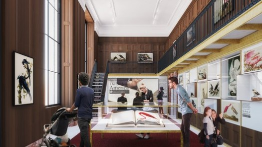 The renovation at the Public Library will include new exhibition spaces, like this one planned for an area currently used as the gift shop. Image Courtesy of Mecanoo with Beyer Blinder Belle
