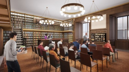 The new Lenox and Astor Room will house books and artwork bequeathed to the library by Brooke Astor, a longtime benefactor. Image Courtesy of Mecanoo with Beyer Blinder Belle