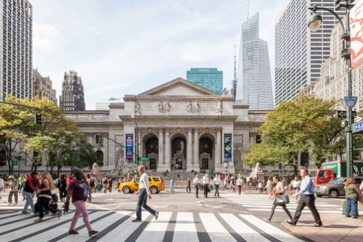 The connection between the Mid-Manhattan Library, the Stephen A. Schwarzman Building and Bryant Park is an important aspect of the campus plan. Image © Mecanoo Architecten