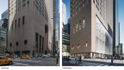 Renovation plans would significantly alter the building's street presence. Image © DBOX