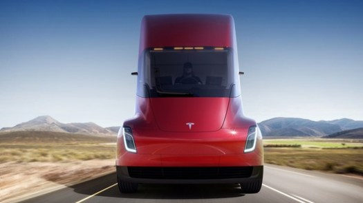 The recently revealed Tesla Semi. Image Courtesy of Tesla