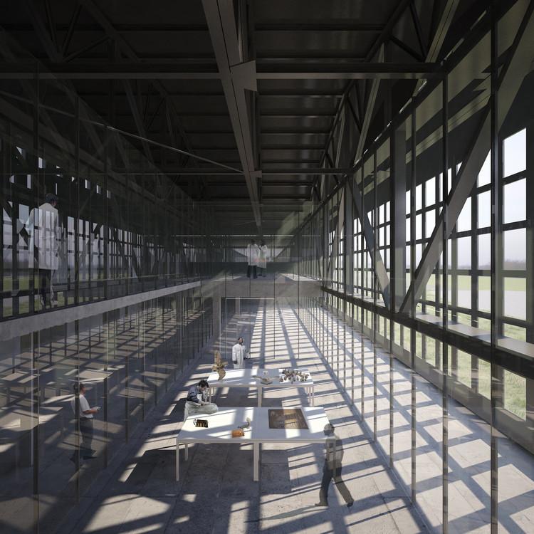 Primer Lugar: Jara Spichiger Arquitectura. Image Cortesía de Museo Nacional de Historia Natural