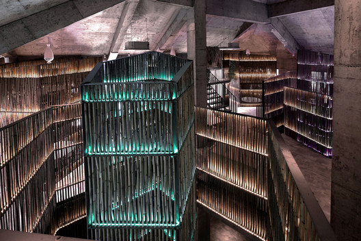 Bamboo stairwell. Image © Quan Zhang