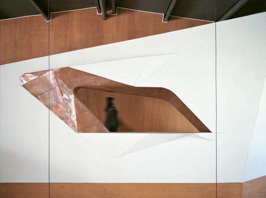 Office area of the second floor. Image Courtesy of CAL Architects
