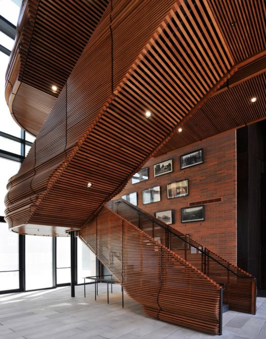 The Owsley Brown II History Center (Louisville, Kentucky) / de Leon & Primmer Architecture Workshop. Image Courtesy of Wood Design & Building Awards