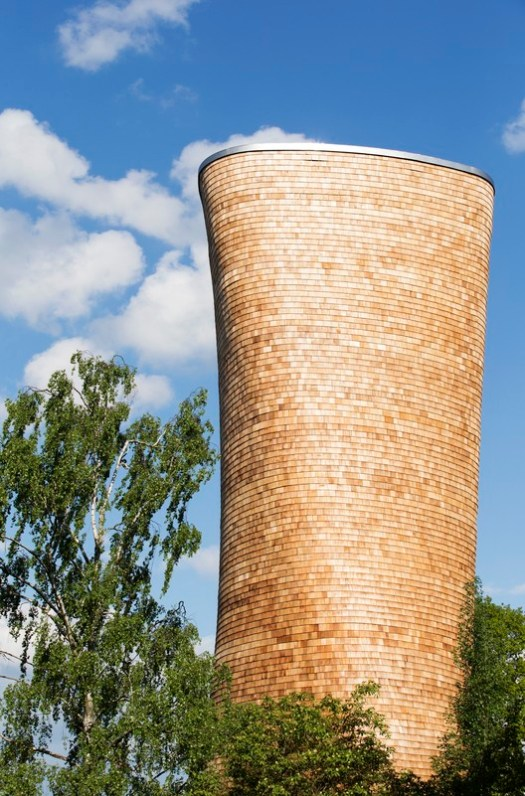 Wooden Ventilation Towers (Stockholm, Sweden) / Rundquist Architects. Image Courtesy of Wood Design & Building Awards
