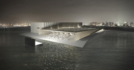 ELEMENTAL proposal for the Art Mill in Qatar. Image © ELEMENTAL / Malcolm Reading Consultants