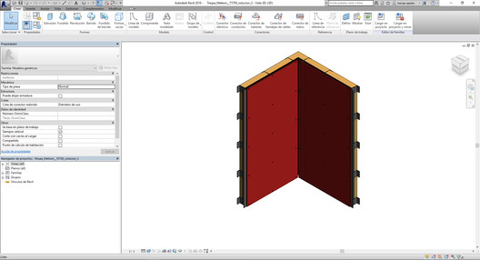 Trespa Meteon cladding, modeled in Revit