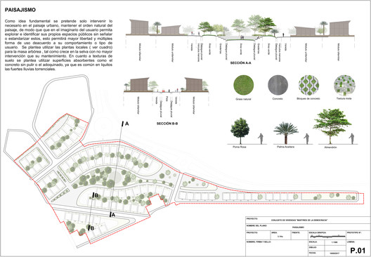 1_LAMINA_PAISAJISMO Architects Propose 120 Incremental Social Houses for Iquitos, Peru Architecture