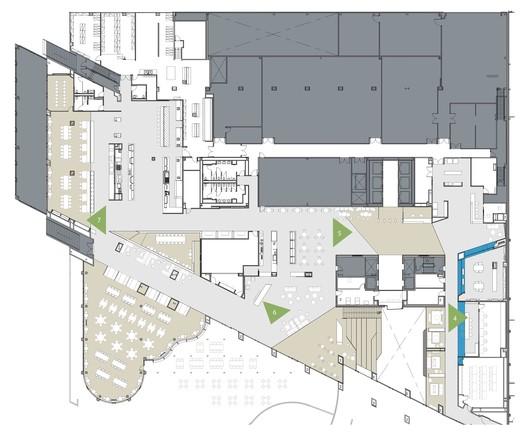 West Tower / Second floor plan