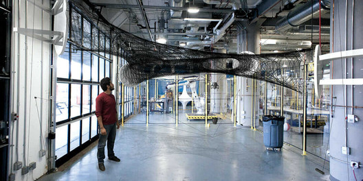 Carbon fiber's light weight and unique properties make it an exciting potential building material, say researchers at Autodesk BUILD Space. Image Courtesy of University of Stuttgart