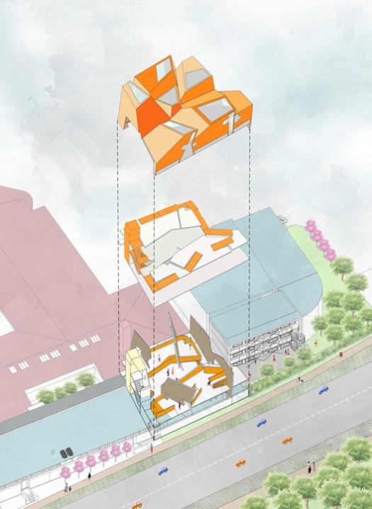 Site Concept Diagram. Image Courtesy of CRAB Studio