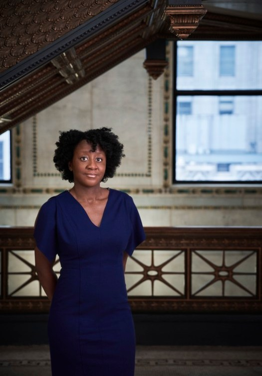 Yesomi Umolu at the Chicago Cultural Center. Photo by Andrew Bruah,  courtesy the Chicago Architecture Biennial
