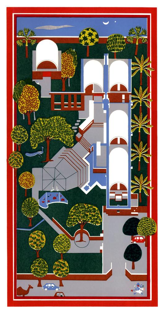 Concept Drawing of Sangath Studio. Image Courtesy of Pritzker Architecture Prize