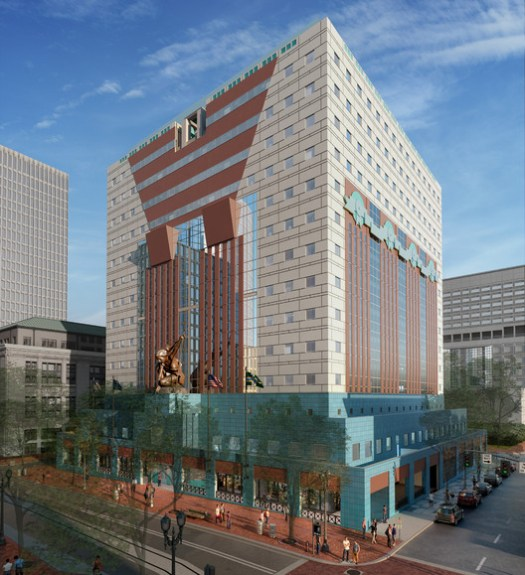 A rendering of the future Portland Building. Image via Next Portland