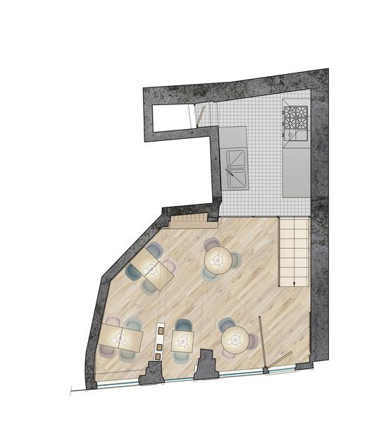 13-01-_Plan_Ground_floor Restaurant Yoshinori / Alia Bengana architecte dplg + Atelier BEPG SASU d'Architecture Architecture