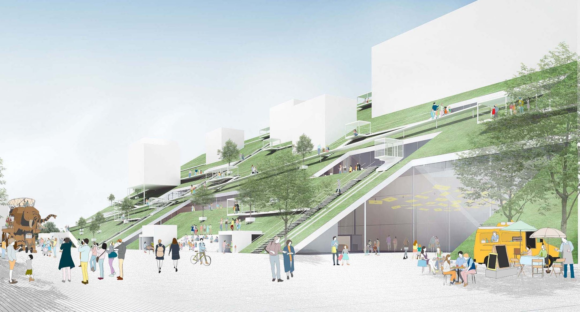 Riken Yamamotos Hill Wins Competition For Taiwan Art