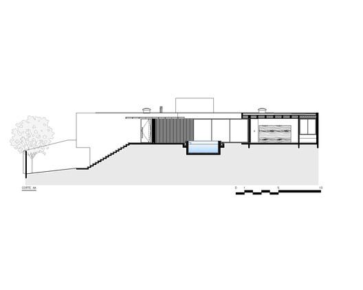 CORTE_AA-SECTION_AA Jardins House / Drucker Arquitetos e Associados Architecture