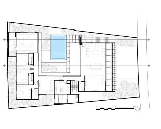 PLANTA_PAV_TERREO-SUPERIOR_PLAN Jardins House / Drucker Arquitetos e Associados Architecture