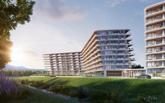 DANUBIO_render_7 T2.a Architects Uses Algorithm to Design Customizable Apartment Complex Architecture
