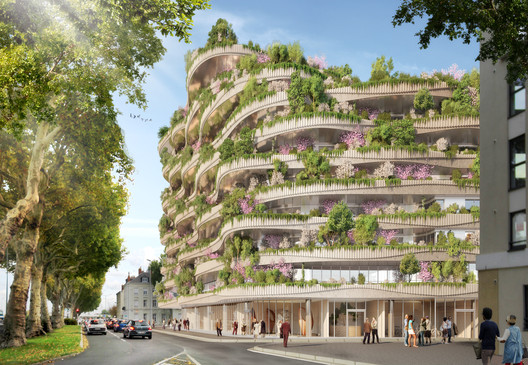 04_-_ARBORICOLE_-_VIEW_FROM_THE_BOULEVARD Vincent Callebaut Architectures Wins Public Vote for Millennial Vertical Forest Competition Architecture