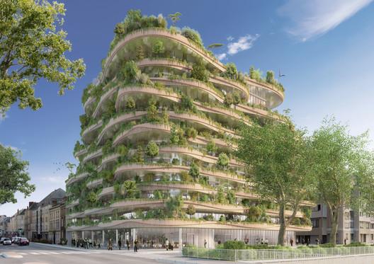 12_-_ARBORICOLE_-_SUMMER_VIEW Vincent Callebaut Architectures Wins Public Vote for Millennial Vertical Forest Competition Architecture