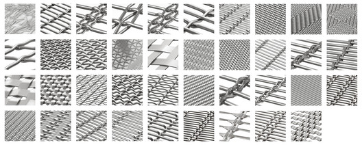 Architectural Mesh Types. Image Courtesy of HAVER & BOECKER