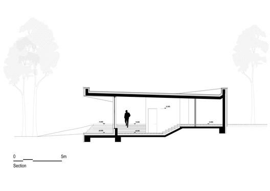 SVA_Deer_Section Holiday House - Deer / Sintija Vaivade_Arhitekte Architecture