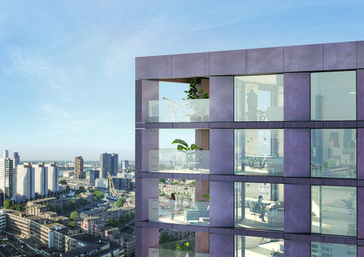 BarcodeArchitects_CasaNova_balconies Barcode Architects Brings New Triangular Residential Tower to Rotterdam's Skyline Architecture