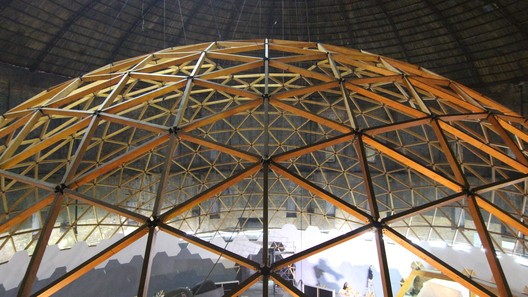 BVwfiotZicw This Wooden Geodesic Dome Contains the World's Largest Planetarium Architecture