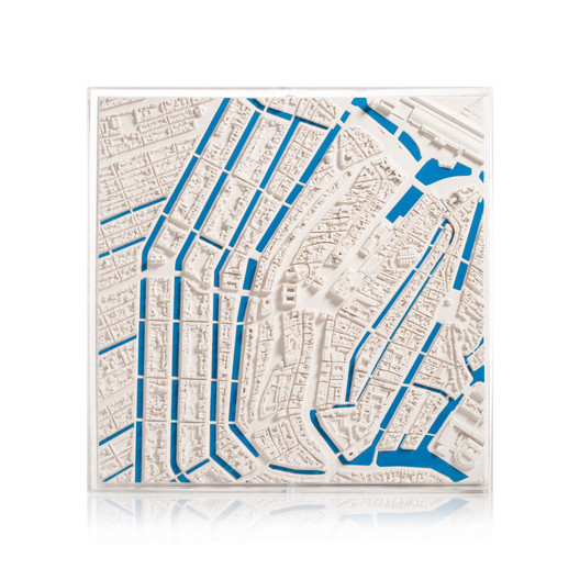 amsterdam-cityscape-blue-framed-5000-front-large-v3 Chisel & Mouse Recreates Miniature Architectural Icons Perfect for Your Coffee Table Architecture