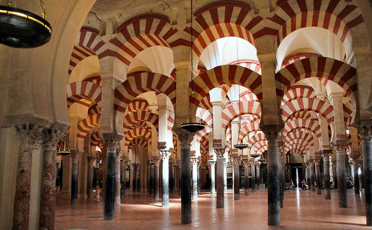 Mosque-Cathedral of Cordoba. Image© <a href='https://commons.wikimedia.org/wiki/File:Mosque_of_Cordoba.jpg'>Wikimedia user Meisam</a> licensed under <a href='https://creativecommons.org/licenses/by/2.0/'>CC BY 2.0</a>
