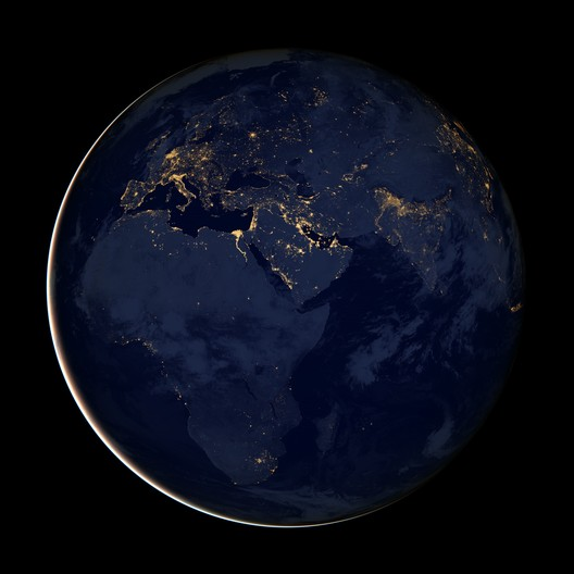City lights of Africa, Europe and the Middle East, 2012. NASA Earth Observatory image by Robert Simmon, using Suomi NPP VIIRS data provided courtesy of Chris Elvidge (NOAA National Geophysical Data Center)