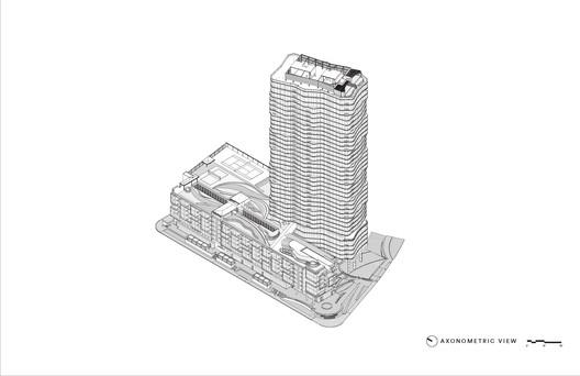 Axonometric_View Anaha / Solomon Cordwell Buenz Architecture