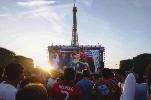 Celebrating the Euro Cup on Champ de Mars, Paris. Image © Keshia Badalge