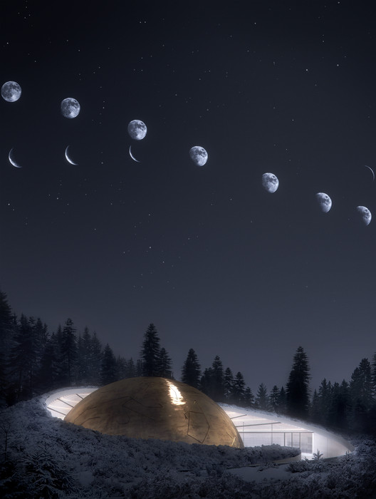 2017228_OS Snøhetta Designs Planetarium and Interstellar Cabins in Norwegian Forest Architecture
