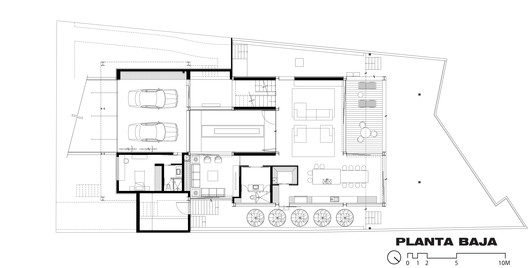 PLANTA_BAJA Studio House KSG / Hernández Silva Arquitectos Architecture