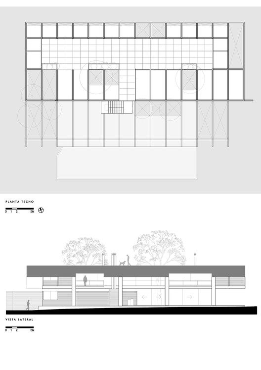 Rooftop Plan and Side Elevation