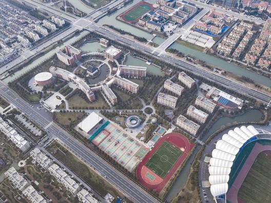 Aerial view of school. Image © Hengzhong LYU