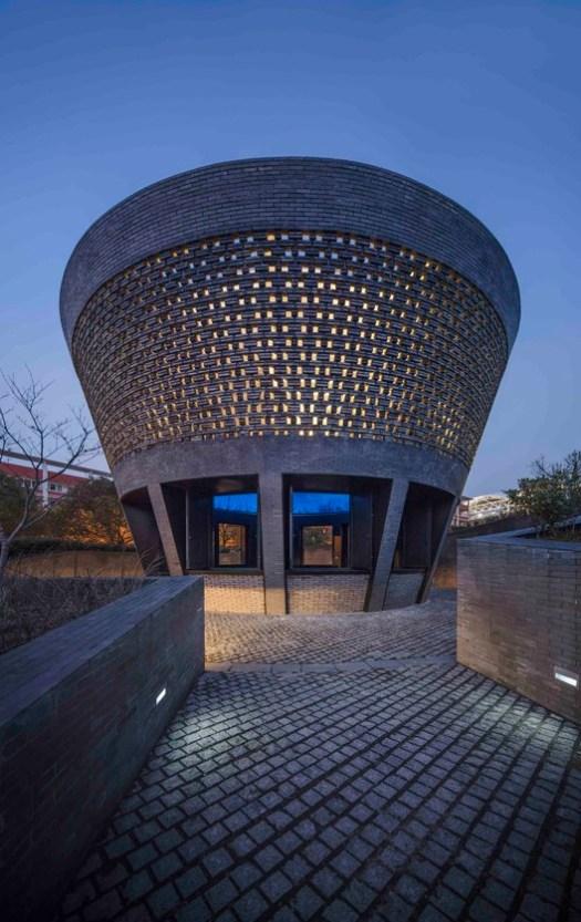 Night view of  the Planetarium Pavilion. Image © Hengzhong LYU
