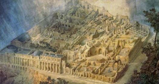 Gandy's Drawing of John Soane's Bank of England