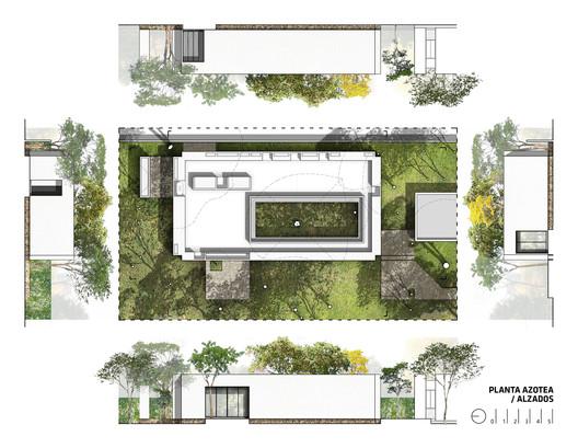 BB_Alzados_y_Azotea Infiltrated Patio / PLUG Architecture