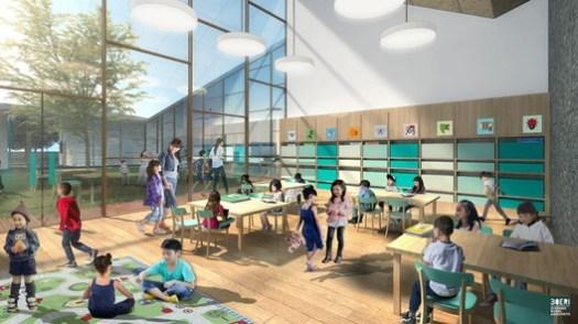 School Visualization. Image Courtesy of Stefano Boeri Architetti