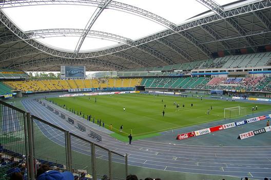Image by Waka77 <a href='https://commons.wikimedia.org/wiki/File:Ooita_Stadium20090514.jpg'>via Wikimedia</a> (public domain)