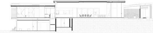 Corte_A PS House / Guillot Arquitectos Architecture