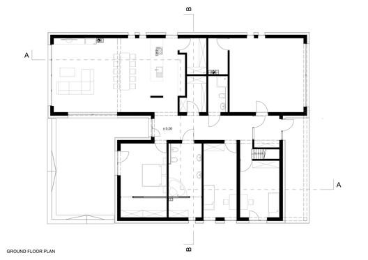 02_GROUND_FLOOR_PLAN Forest House in Kuźnica Kiedrzyńska / grupaVERSO Architecture